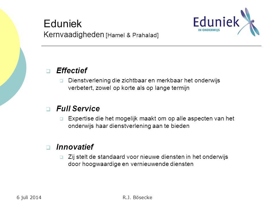 Eduniek Kernvaadigheden [Hamel & Prahalad] Effectief Full Service
